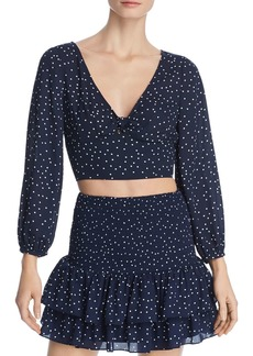 BB DAKOTA Polka Dot Tie-Front Cropped Top - 100% Exclusive