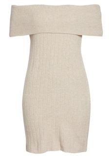 BB Dakota Porter Off the Shoulder Sheath Dress