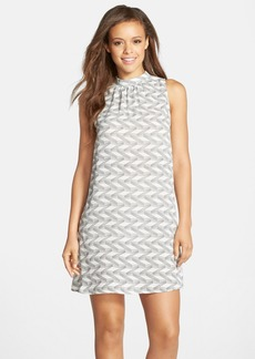 BB Dakota Print High Neck Shift Dress