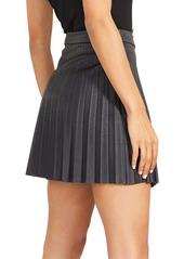 BB Dakota x Steve Madden Private School Pleated Faux Leather Miniskirt