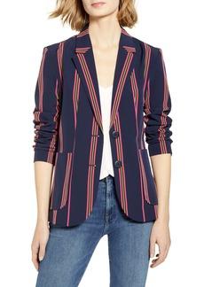 BB Dakota Put A Pin In It Stripe Blazer