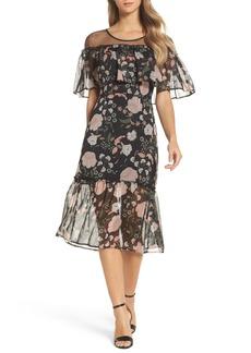 BB Dakota Rella Ruffle Midi Dress
