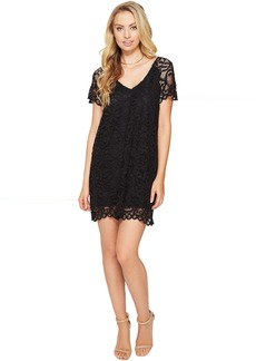 BB Dakota Rene V-Neck Lace Shift Dress