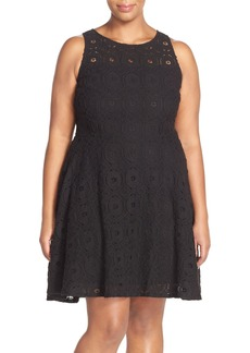 BB Dakota 'Renley' Lace Fit & Flare Dress (Plus Size)
