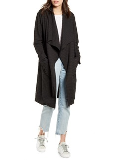 BB Dakota Revolution Drapey Bouclé Trench Coat
