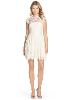 BB Dakota 'Rhianna' Illusion Yoke Lace Fit & Flare Dress (Nordstrom Exclusive)