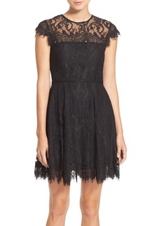 BB Dakota Rhianna Open Back Lace Fit & Flare Cocktail Dress (Nordstrom Exclusive)
