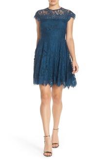 BB Dakota 'Rhianna' Illusion Yoke Lace Fit & Flare Dress (Nordstrom Exclusive)