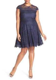 BB Dakota 'Rhianna' Lace Fit & Flare Dress (Plus Size)