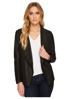 BB Dakota Rowe Drape Front Leather Jacket