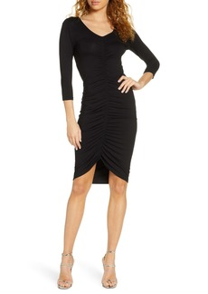 BB Dakota Ruched Mood Knit Body-Con Dress