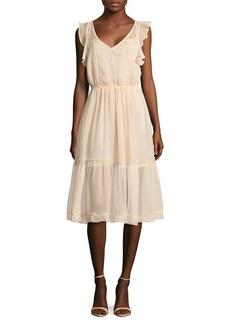 BB Dakota Ruffled Midi Dress
