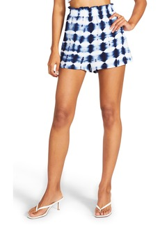 BB Dakota by Steve Madden Saturday's Child Tie Dye Smocked Cotton Gauze Shorts