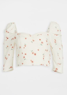 BB Dakota Scattered Daisy Printed Puff Sleeve Top