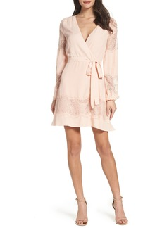 BB Dakota Shawna Crepe Wrap Dress