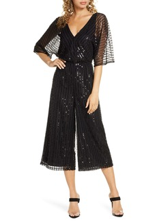BB Dakota She's Sparkling Sequin Beaded Jumpsuit