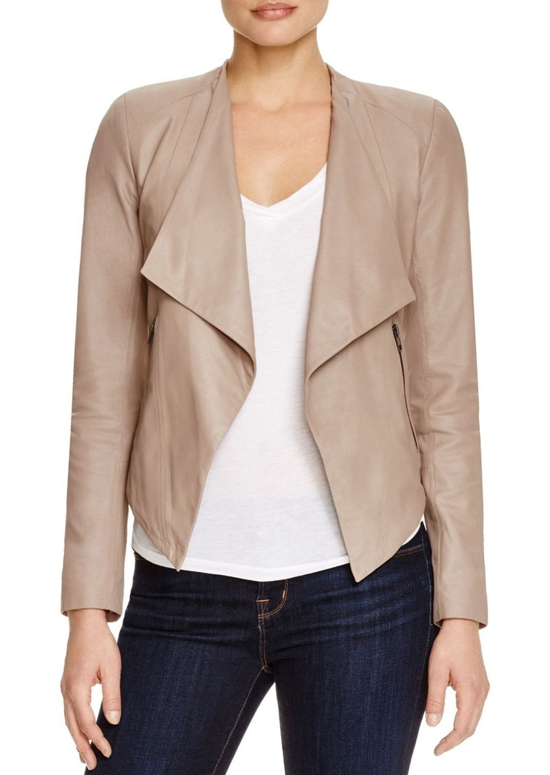 BB DAKOTA Siena Draped Leather Jacket