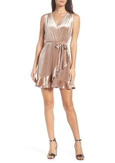 BB Dakota Stretch Velvet Wrap Dress