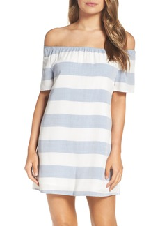BB Dakota Stripe Off the Shoulder Shift Dress