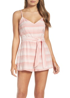 BB Dakota Stripe Sash Tie Romper