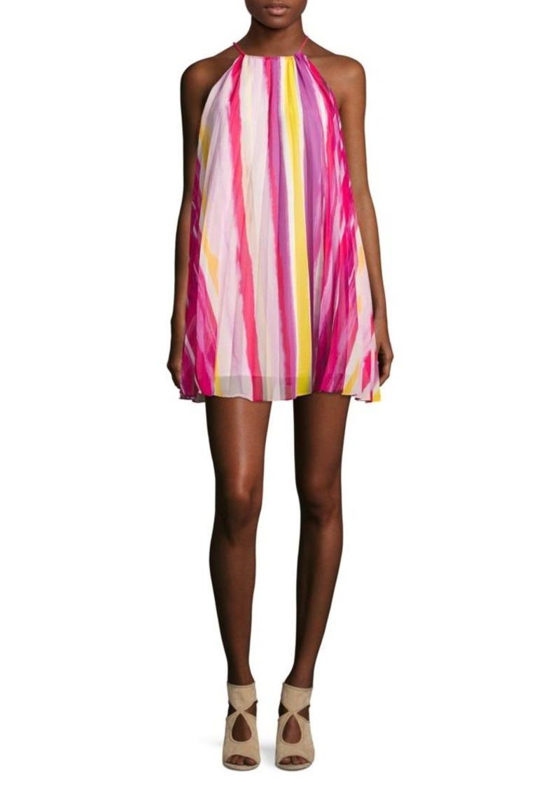 BB Dakota Striped Halter Dress