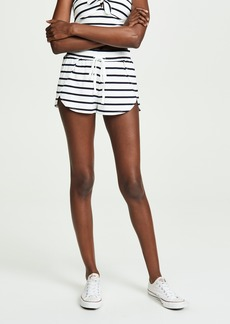 BB Dakota Striped Overlap Shorts