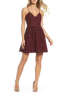 BB Dakota Sutton Lace Fit & Flare Dress