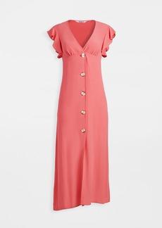 BB Dakota That's Amore Button Front Midi Dress