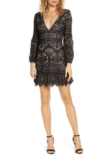 BB Dakota That's Deep Long Sleeve Lace Sheath Dress