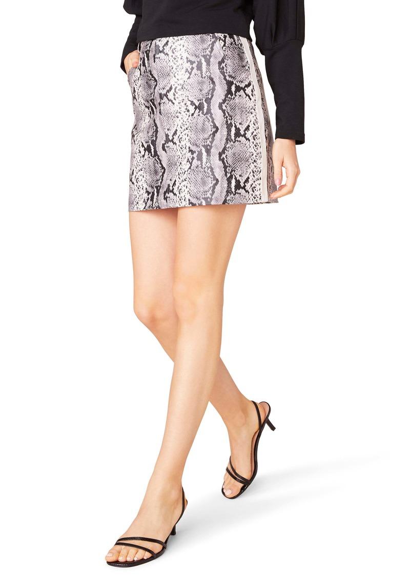 BB Dakota The Prowl Snake Print Faux Leather Miniskirt