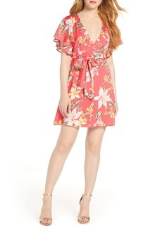BB Dakota Tropic Tropical Vine Print Dress
