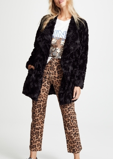 BB Dakota Tucker Faux Fur Drape Front Jacket