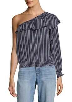 BB Dakota Valerie Striped One-Shoulder Top