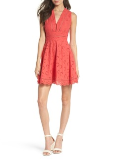 BB Dakota Vianne Eyelet Fit & Flare Dress