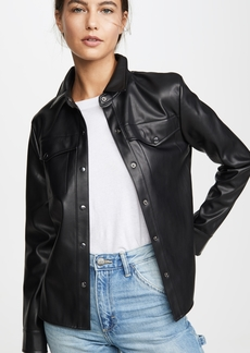 BB Dakota Way Out West Vegan Leather Shirt Jacket