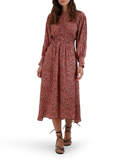 BB Dakota Wild in Style Long Sleeve Midi Dress