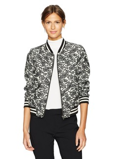 BB Dakota Women's Addie Jacquard Bomber Jacket