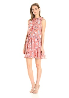 BB Dakota Women's Adeen Floral Printed Fit-n-Flare Dress