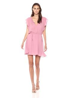BB Dakota Women's Adrienn Ruffle Sleeve Dress