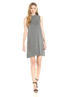 BB Dakota Women's Alanna Mock Neck French Terry Dress  Heather Grey