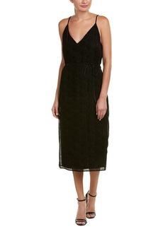 BB DAKOTA Women's Alayna Burnout Velvet Belted Midi Dress