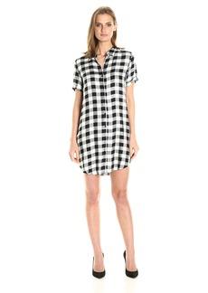 BB Dakota Women's Alexia Plaid Shirt Dress