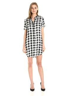 BB Dakota Women's Alexia Plaid Shirt Dress
