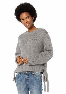 BB Dakota Women's All Tied up lace up Sweater  Grey