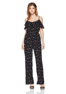 BB Dakota Women's Arleen Off The Shoulder Printed Jumpsuit