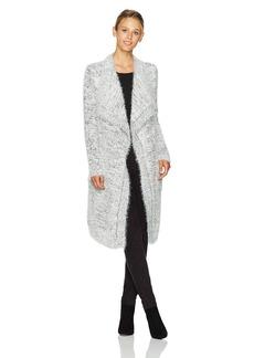 BB Dakota Women's Ayala Marled Eyelash Fuzzy Sweater Cardigan
