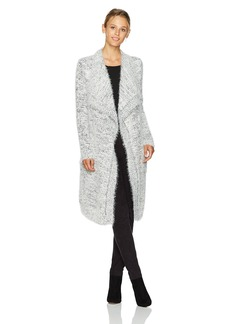 BB Dakota Women's Ayala Marled Eyelash Fuzzy Sweater Cardigan