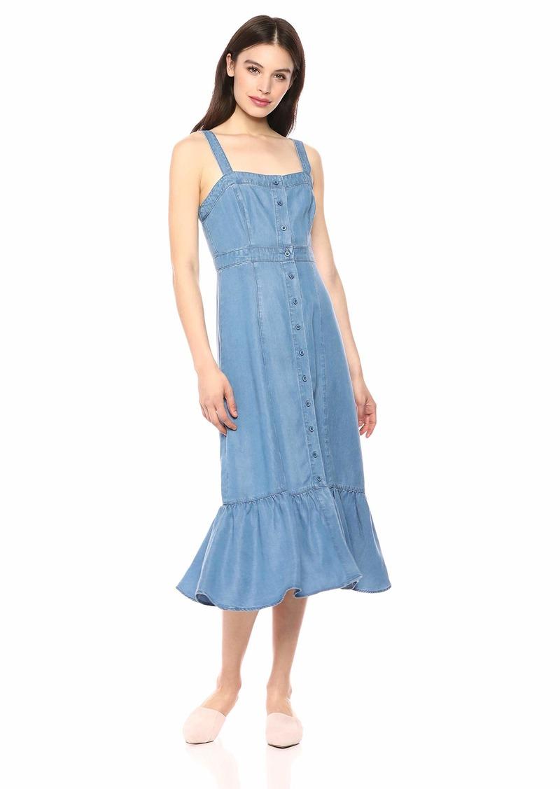 BB Dakota Womens Babe Next Door Indigo Tencel Dress