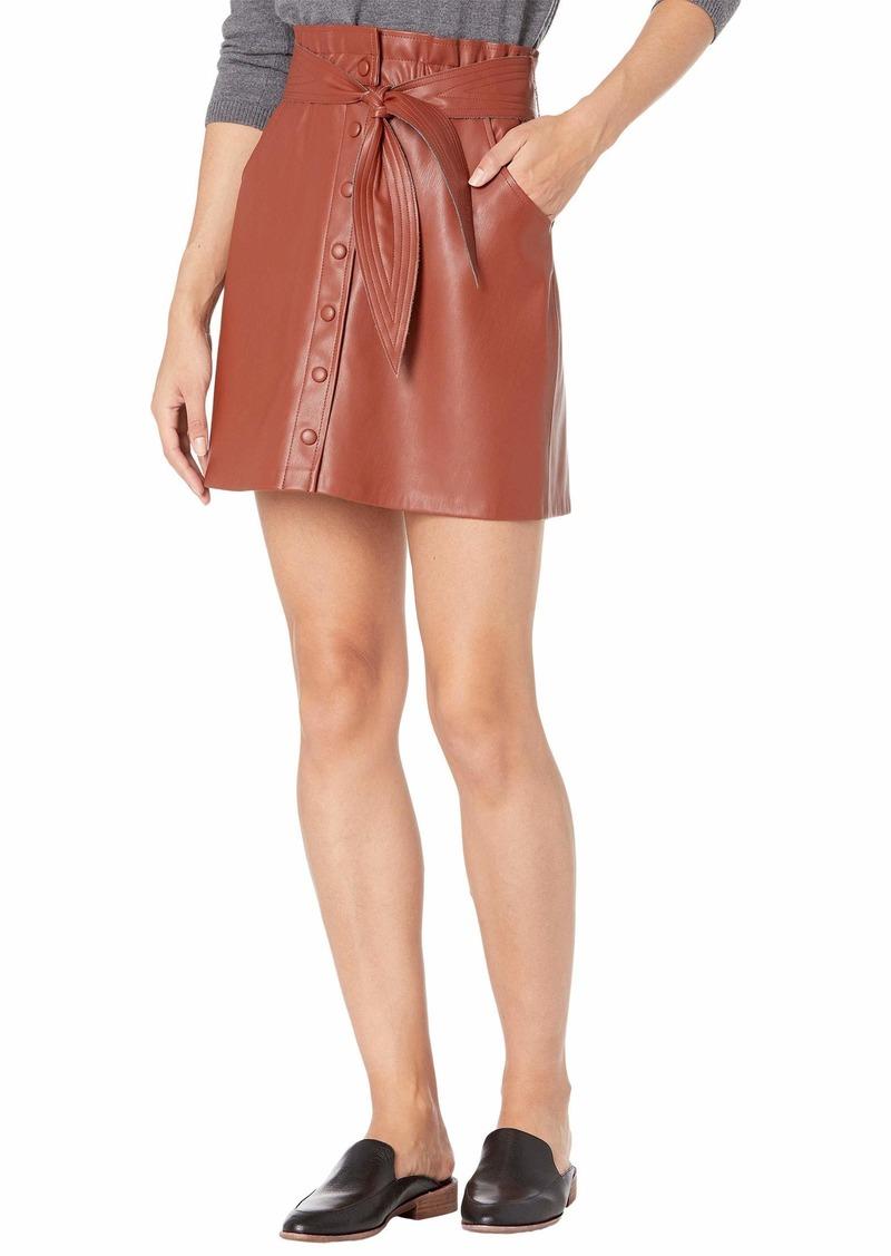 BB Dakota Women's Belt So Real Faux Leather Skirt