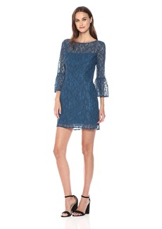 BB Dakota Women's Billie Lace Flutter Sleeve Dress